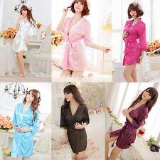 Sexy Women Lace Robe Sleepwear Lingerie Nightdress G-string Pajamas