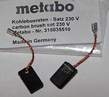 Balais Charbon Carbone Metabo W 7 8 9 10 14 -125 WE WBE Ge Ste Wq FME limitent l'original