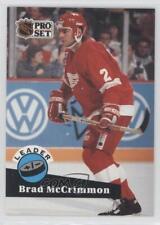 1991-92 Pro Set #609 Brad McCrimmon Detroit Red Wings Hockey Card