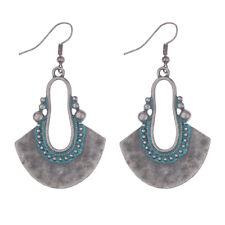 Retro Bohemia Style Women Fan Shape Vintage Earrings Evening Party Jewelry New
