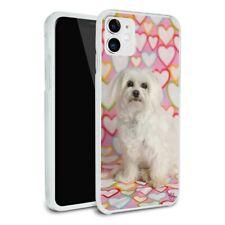 Maltese Puppy Dog Hearts Love Apple iPhone 8, 8 Plus, X, 11 Case