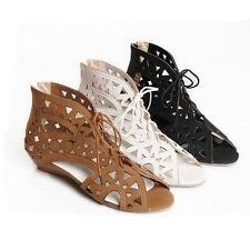 New Fashion Ladies Gladiator Open Toe Women Sandles Beach Flat Shoes Plus size
