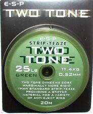 Esp Two Tone - 2-puntas en color-boilie-sedales 25 lbs, Green, Brown, boilierig