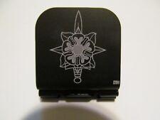 Military Intelligence Logo Laser Etched Aluminum Hat Clip Brim-it