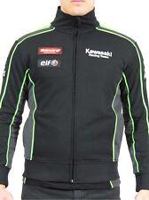 2016 Oficial Kawasaki Motocard Equipo Negro/Verde Cremallera sweatshi -16 21502