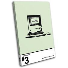 Iconic PC Retro Mac Vintage SINGLE LONA pared arte Foto impresion