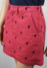 Polo Ralph Lauren Red Navy Blue Pony Skirt NWT