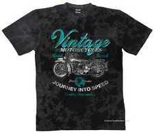 T SHIRT BATIK Black HD Vintage Biker Chopper & oldschoolmotiv MODELLO MOTORE VINTAGE