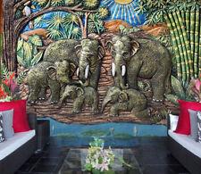 3D Garten Elefant 89 Tapete Wandgemälde Tapete Tapeten Bild Familie DE