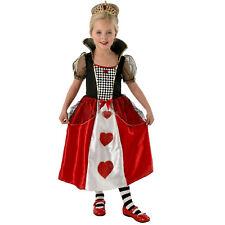 Queen of Hearts Girls Fancy Dress Costume Alice Wonderland Movie Book Week