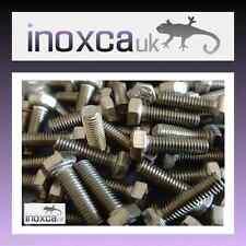 M5 X 16 HEX HEAD SET SCREW BOLT A2-70 STAINLESS STEEL HEXAGON HD DIN 933 A2 S/S