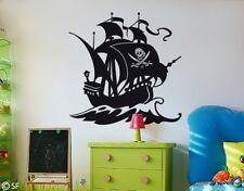 Wandtattoo Piratenschiff Kinderzimmer Pirat Piraten Wandaufkleber Ozean uss175