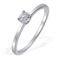 Goldmaid Ring Solitär Verlobungsring 585 Weißgold 1 Brillant Echtschmuck 0,25 ct