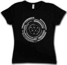 Technology Circle señora T-Shirt espiral Science laberinto esotéricas trompo