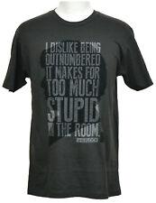 Sherlock T-Shirt BBC Too Much Stupid Graphic Tee Ash Gray Cotton NWT
