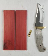 "6.75"" Clip Point Blade DIY Knife Making Kit - Wood or Resin Handles - Payne Bros"