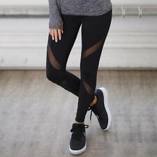 Women Yoga Floral Skinny Pants Gym Workout Fitness Clothe Tights Sport Wear JA