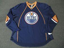 New Edmonton Oilers Authentic Team Issued Reebok Edge 1.0 Blank Hockey Jersey
