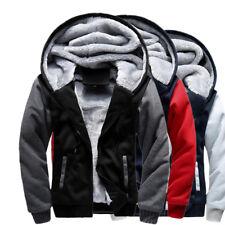 Men's Winter Thick Warm Hoodie Jacket Male Wool Coat Lining Casual Outwear M-5XL