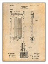 1898 Billiards Pool Cue Rack Patent Print Art Drawing Poster 18X24