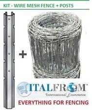 treillis métallique clôture KIT grillage noué clôture de ferme de moutons 50m