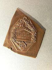 Médaille Ancienne  MCF    Coupe de l'Armistice    1930      En laiton   MOTO