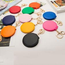 Mini Round Lady Makeup Mirror Portable Compact Pocket Cosmetic Mirror Keyring BD