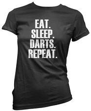 Eat Sleep Dart Repeat T Shirt Darts Player Gift All Colours Tee Womens T-Shirt