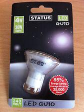 High Power LED 240v GU10 Bulb Lamp 4w = 30w Warm White 2700K 25,000hrs New