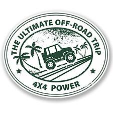 2 X OFF ROAD 4x4 Adesivi Auto Pick Up Buggy Camper Van Jeep grafica #4297