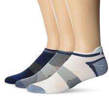 3-Pack ASICS Quick Lyte Moisture ControlSingle Tab Socks - Indigo Blue Assorted