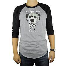 Dalmatian Dog Baseball Raglan T-Shirt Tri Blend Soft Fitted Tee Cute Spot