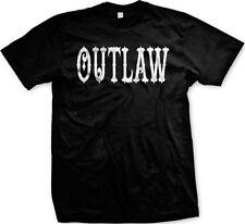 Outlaw Text Biker Loner Rebel Independent Swag Mens T-shirt