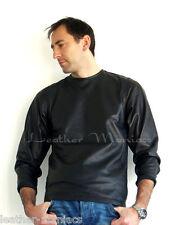 Langarm T-Shirt aus Leder Lederhemd Ledershirt S M L XL 48 50 52 54 56