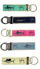 GUY HARVEY Grand Slam Key Chain Ring Holder MARLIN SAILFISH Blue Green Pink Navy