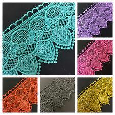 CLEARANCE SALE (65mm) Wide Pretty Floral Venise Guipure Lace/Trim x 1metre
