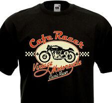 T-shirt CAFE RACER Vintage Motorcycle Custom Biker Norton Triumph Rock'n'Roll