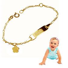 Kinderarmband,Babyarmband,Namensarmband mit Blume, Silber 925- Inkl. Gravur