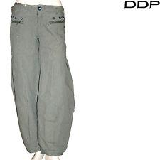 Sarouel DDP lin coton fines rayures kaki femme