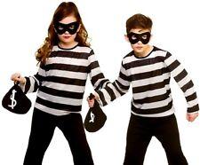 Niño escurridizo ladrón PRISIONERO CHICOS CHICAS CRIMINAL Fancy Dress Costume Niño Antirrobo