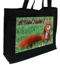 SCOIATTOLO rosso, una totale nutter, COTONE SHOPPING BAG, scelta di colori, panna, nero