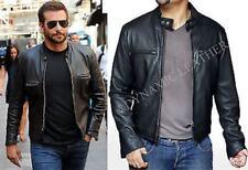 Nuevo Estiloso Bradley Cooper Moderna Motero Cuero Auténtico Chaqueta