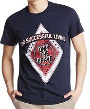 NWT Diesel LOGO Crew Neck Tee Distressed Front Print Slim Fit T-Shirt