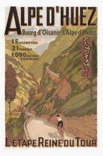 ALPES D'HUEZ... France... Vintage Tour De France Travel Poster A1A2A3A4Sizes