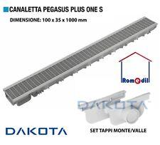 CANALETTA CANALE DI SCOLO CON GRIGLIA COMPONIBILE 100X35X1000 PEGASUS PLUS ONE S