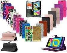pour Alcatel U5 3G 4047x NEUF Portefeuille en cuir noir étui de téléphone +