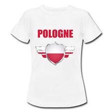 T-shirt Enfant Pologne avec prénom au dos personnalisé - Mondial Football 2018
