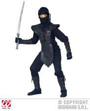 6 tlg.ninja Costume,enfants,jeune homme noir,armure du sein deluxe128,140,158