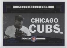 2005 Playoff Prestige Prestigious Pros Purple PP-65 Sammy Sosa Chicago Cubs Card