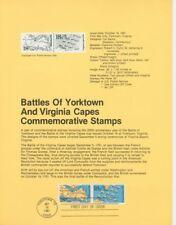 #1937-38 18c Battles Yorktown Usps #8130 Souvenir Page